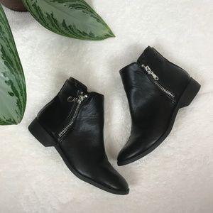 American Eagle Black Zip Booties Size 8